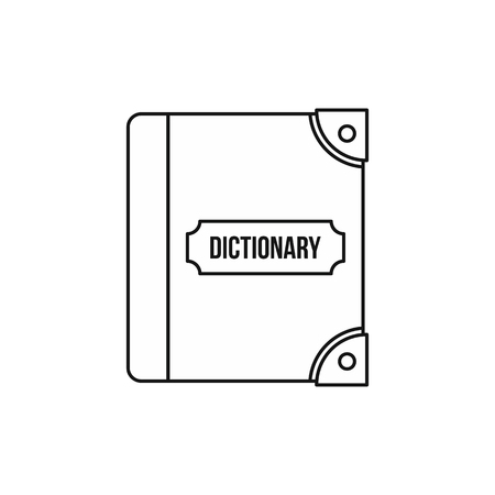 English dictionary: English dictionary icon in outline style on a white background vector illustration