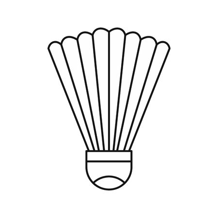 Shuttlecock icon in outline style on a white background vector illustration