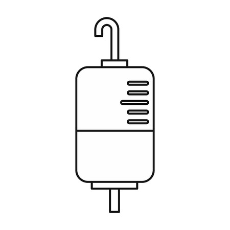 transfuse: Drop counter icon in outline style on a white background vector illustration