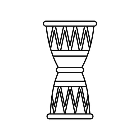 djembe: Ethnic drum icon in outline style on a white background vector illustration