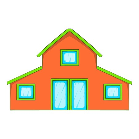 Little house icon in cartoon style isolated on white background vector illustration Illustration