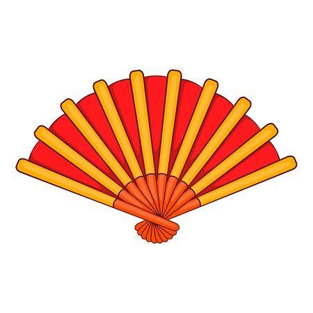 spanish fan: Spanish fan icon in cartoon style isolated on white background vector illustration Illustration