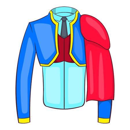 bullfighter: Spanish matador suit icon in cartoon style isolated on white background vector illustration Illustration