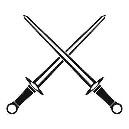 Swords icon in simple style on a white background vector illustration