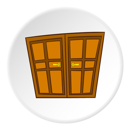 #64800465 - Double door icon in cartoon style on white circle background. Interior design symbol vector illustration  sc 1 st  123RF.com & Cowboy Door Icon In Cartoon Style On White Circle Background ...