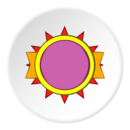 excellent quality: Excellent quality label icon in cartoon style on white circle background. Design symbol vector illustration