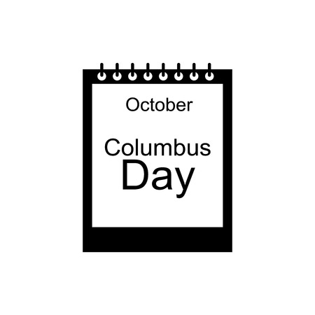 calendar october: Calendar october of Columbus day icon in simple style isolated on white background. Date symbol vector illustration Illustration