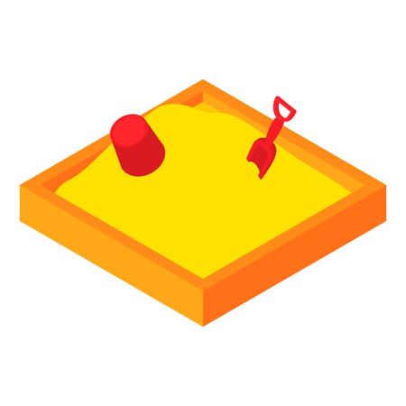 Childrens zandbak icoon in cartoon-stijl op een witte achtergrond. Entertainment voor kinderen symbool vector illustratie