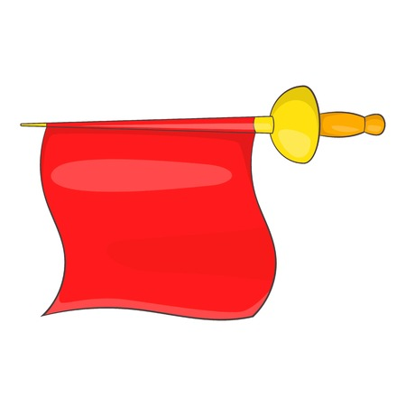 the matador: Matador red fabric icon in cartoon style isolated on white background vector illustration