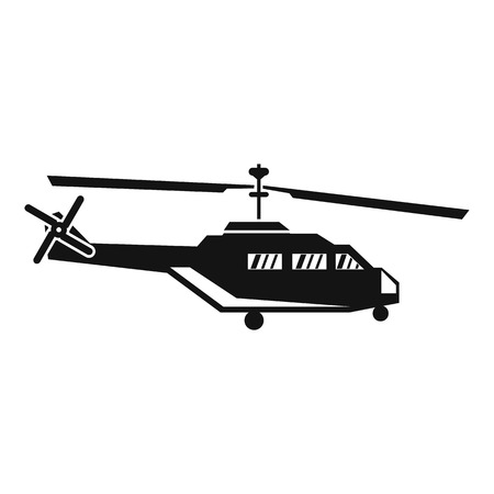 chinook: Military helicopter icon in simple style isolated on white background vector illustration