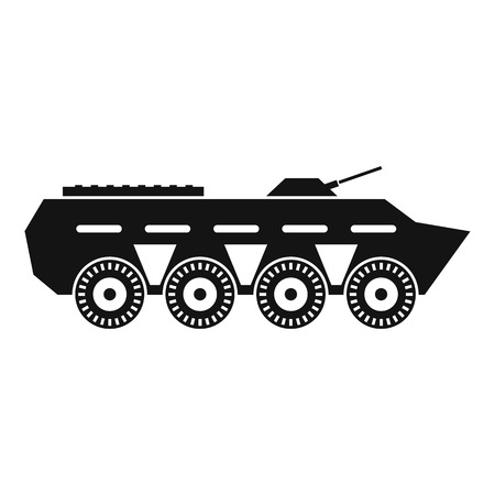 battle tank: Army battle tank icon in simple style isolated on white background vector illustration Illustration