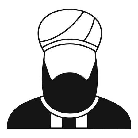 predicador: icono predicador musulmán de forma sencilla sobre un fondo blanco ilustración vectorial