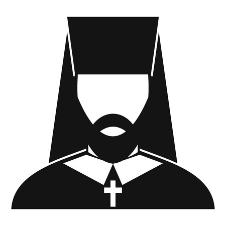 clergy: Orthodox priest icon in simple style on a white background vector illustration