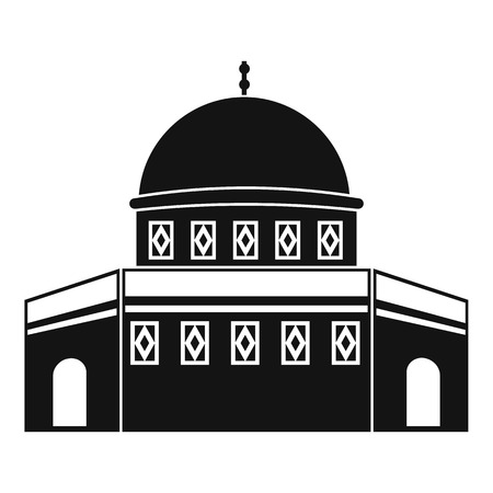 Dome of the Rock on the Temple Mount icon in simple style on a white background vector illustration