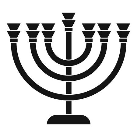 Menorah icon in simple style on a white background vector illustration Illustration