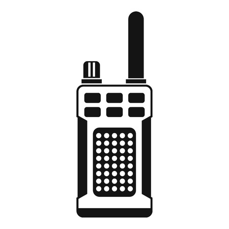 simplex: Portable handheld radio icon in simple style on a white background vector illustration Illustration