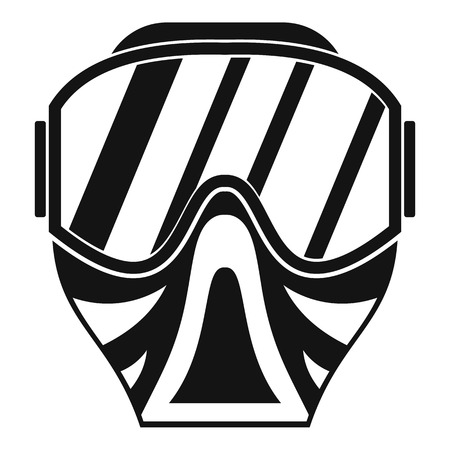 plastic soldier: Paintball mask icon in simple style on a white background vector illustration