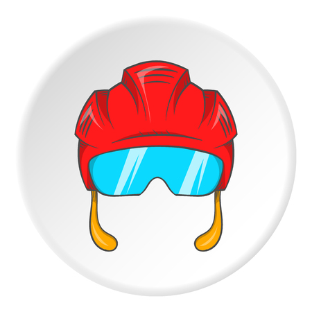 pilot helmet: Pilot helmet icon in cartoon style isolated on white circle background. Fly symbol vector illustration