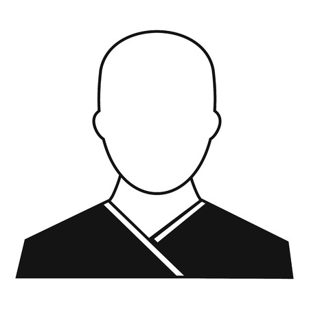 buddhist monk: Buddhist monk icon in simple style on a white background vector illustration Illustration