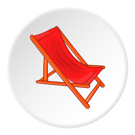 brolly: Lounger icon. Cartoon illustration of lounger vector icon for web