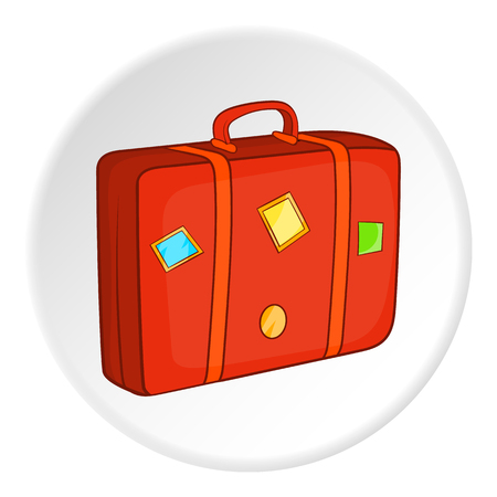 Suitcase icon. Cartoon illustration of suitcase vector icon for web Illustration