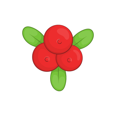 whortleberry: Cowberry icon in cartoon style isolated on white background vector illustration