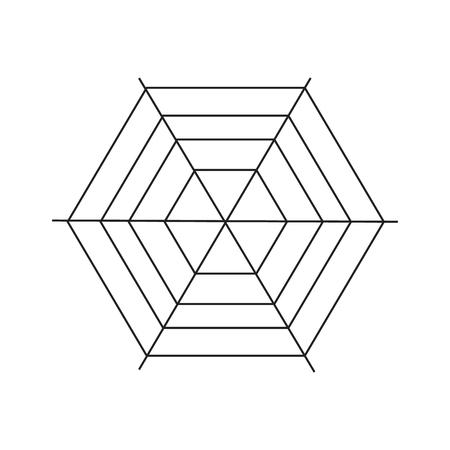 spiderweb: Spiderweb icon. Simple illustration of spiderweb vector icon for web Illustration