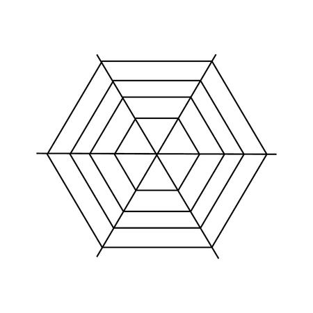 cobweb: Cobweb icon. Outline illustration of cobweb vector icon for web design