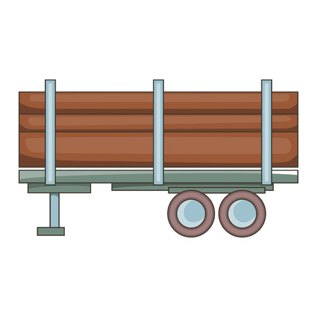 logging: Logging truck icon. Cartoon illustration of truck vector icon for web design