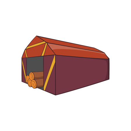 shed: Shed icon. Cartoon illustration of shed vector icon for web design