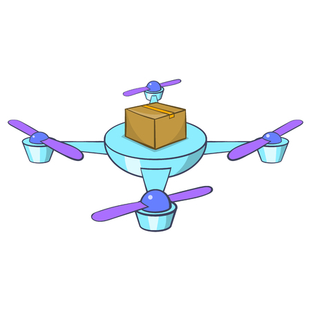 Quadcopter icon. Cartoon illustration of quadcopter vector icon for web design