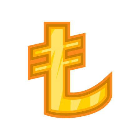 lira: Turkish lira icon. Cartoon illustration of lira vector icon for web design