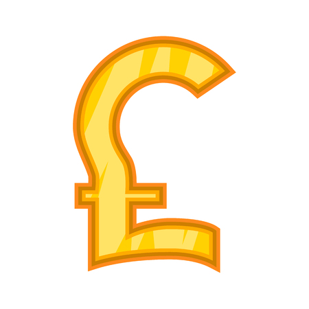 Pound sterling icon. Cartoon illustration of sterling vector icon for web design Illustration