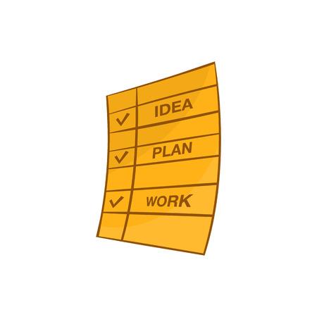 realize: Memo note icon. Cartoon illustration of note vector icon for web design Illustration