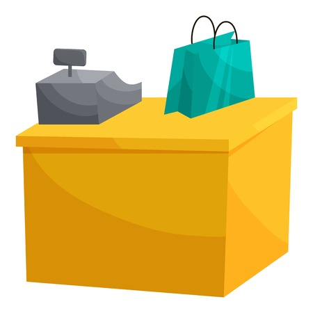 Supermarket cashbox concept. Cartoon illustration of supermarket cashbox vector concept for web.