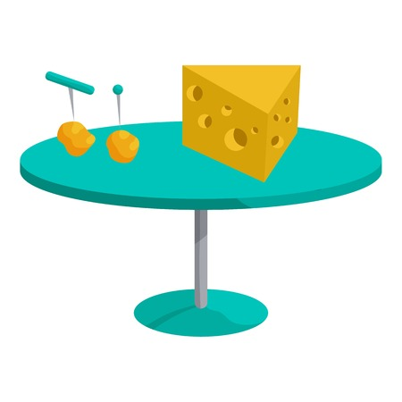 Cheese concept. Cartoon illustration of cheese vector concept for web.