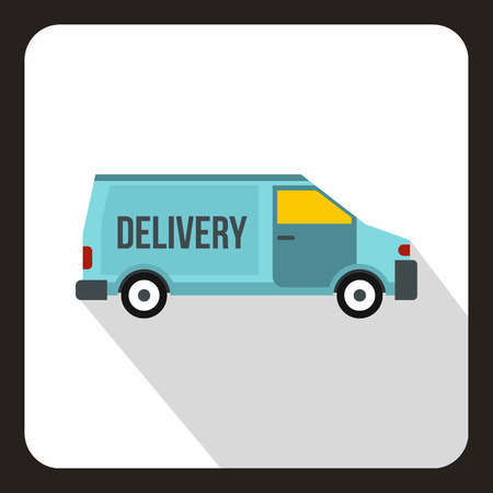 sigh: Delivery car  . Flat illustration of delivery car vector  for web.