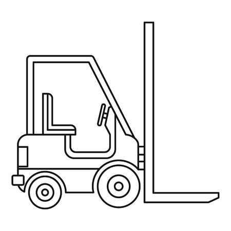 loader: Electric loader icon. Outline illustration of electric loader vector icon for web. Illustration