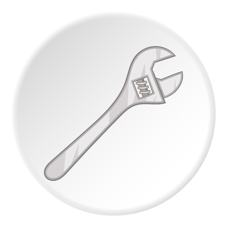adjustable: Adjustable wrench icon. Cartoon illustration of adjustable wrench vector icon for web Illustration