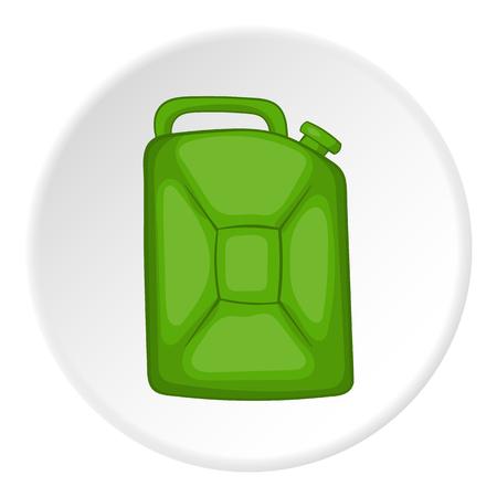 filling station: Flask for gasoline icon. Cartoon illustration of flask for gasoline vector icon for web