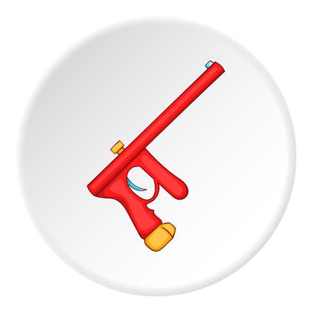 paintball: Paintball gun icon. Cartoon illustration of paintball gun vector icon for web Illustration