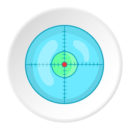sight: Sight icon. Cartoon illustration of sight vector icon for web
