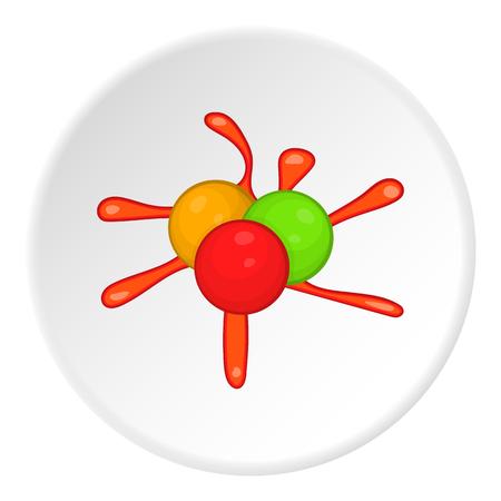 Balls for paintball icon. Cartoon illustration of balls for paintball vector icon for web