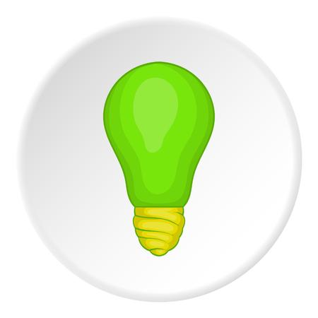 Eco light bulb icon. Cartoon illustration of eco light bulb vector icon for web