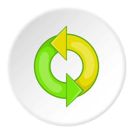 Recycling sign icon. Cartoon illustration of recycling sign vector icon for web