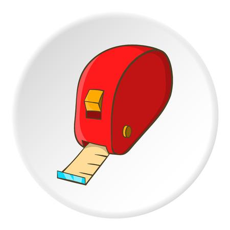 cintas metricas: Measuring tape icon. Cartoon illustration of measuring tape vector icon for web