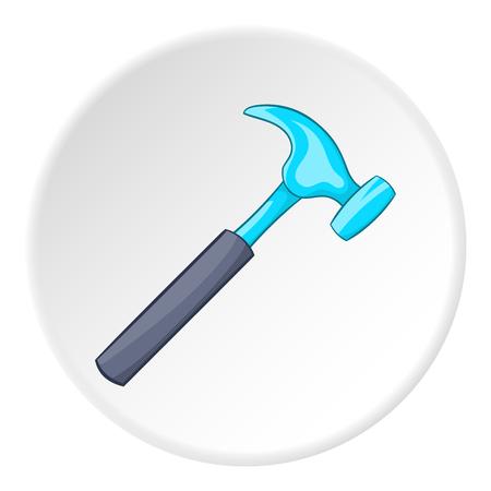 Hammer icon. Cartoon illustration of hammer vector icon for web