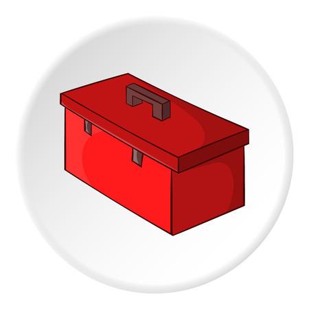 tooling: Construction suitcase icon. Cartoon illustration of construction suitcase vector icon for web