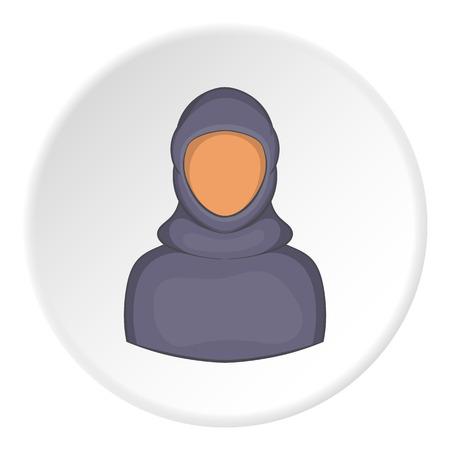 modesty: Woman arab icon. Cartoon illustration of woman arab vector icon for web