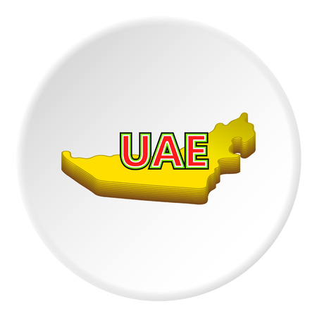 united arab emirate: Map of UAE icon. Cartoon illustration of map of UAE vector icon for web
